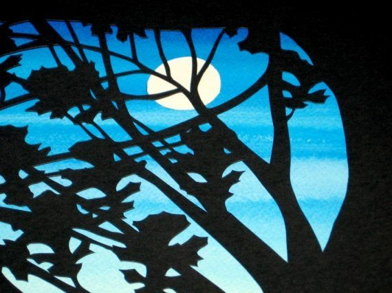 Papercut Ketubah - Evening Silhouette Ketubah - Wedding Certificate - Michigan Women's Music Festival touch