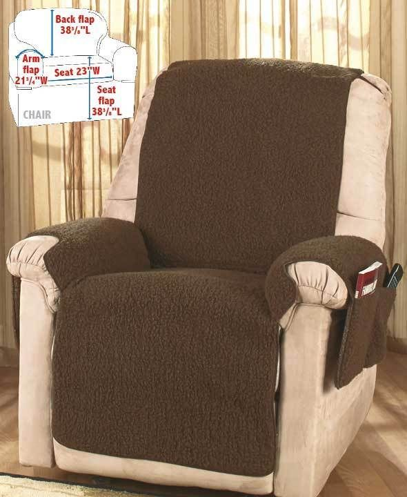 Universal Chocolate Brown Fleece Recliner Chair Cover Nwt Protector Protect Tbd Fauteuil Inclinable Decoration Fauteuil