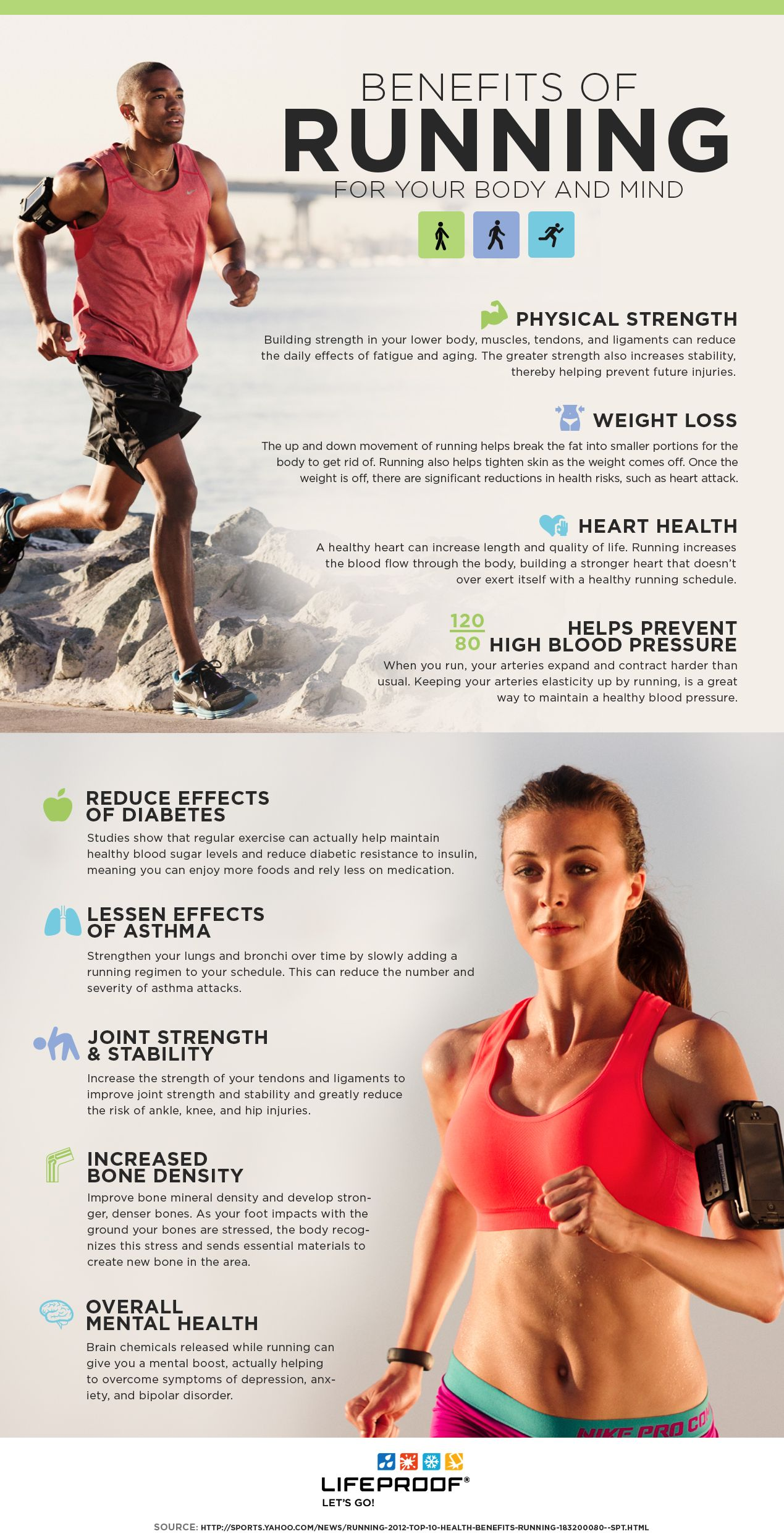 benefits of running There are several mental benefits of jogging and running that some people are not knowledgeable of.