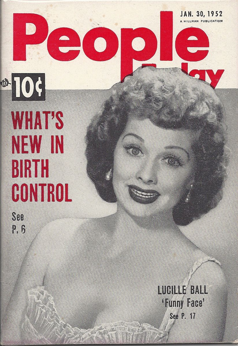 JAN 30 1952 PEOPLE TODAY MAGAZINE VOL.4 #3 (Lucille Ball) | PEOPLE ...
