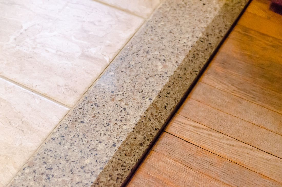 Floor tile with quartz threshold joining the existing heirloom floor tile with quartz threshold joining the existing heirloom wood floor woodfloor floorthreshold dailygadgetfo Images