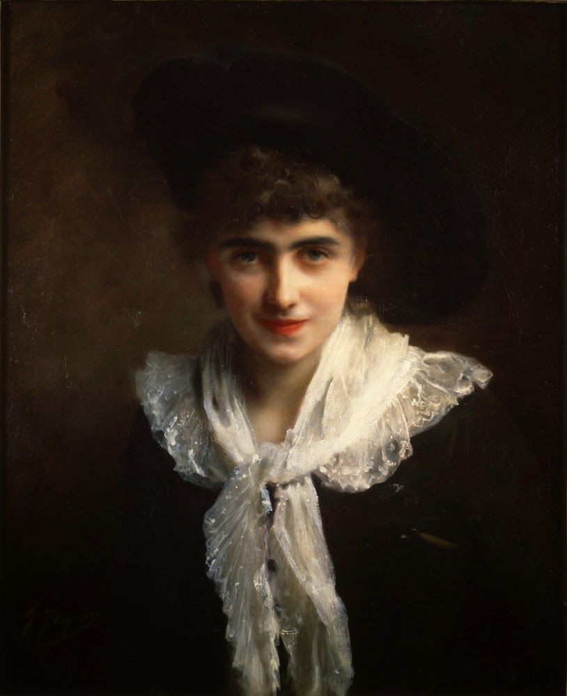 FRENCH PAINTERS: Gustave Jean JACQUET Portrait of Madame Roland