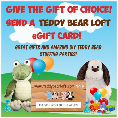 71437c36317 Shopping for someone else but not sure which stuff your own teddy bear kit  or outfit they would like  Give them the gift of choice with a Teddy Bear  Loft ...