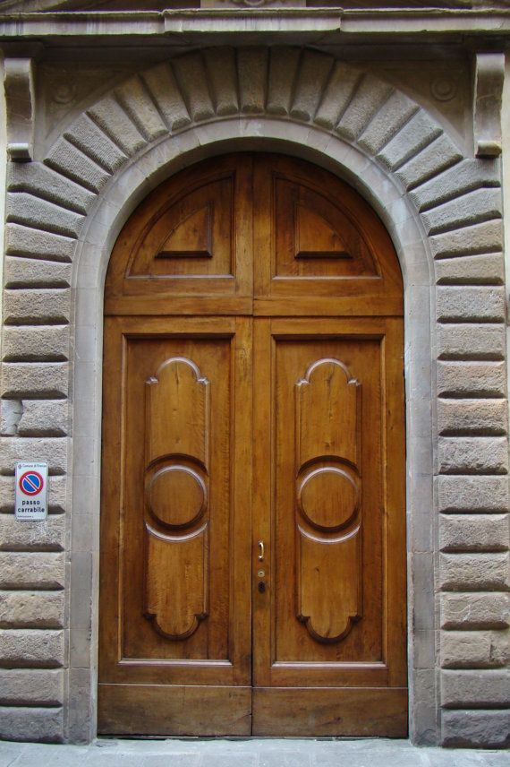 #Florence #Italy, Wood Door, Italian Door, Arched Doorway. Arch Doorway