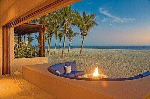 Sofas on the beach