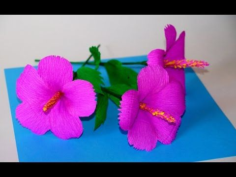 Easy Flowers Making Ideas How To Make Hibiscus Tissue Paper Crepe
