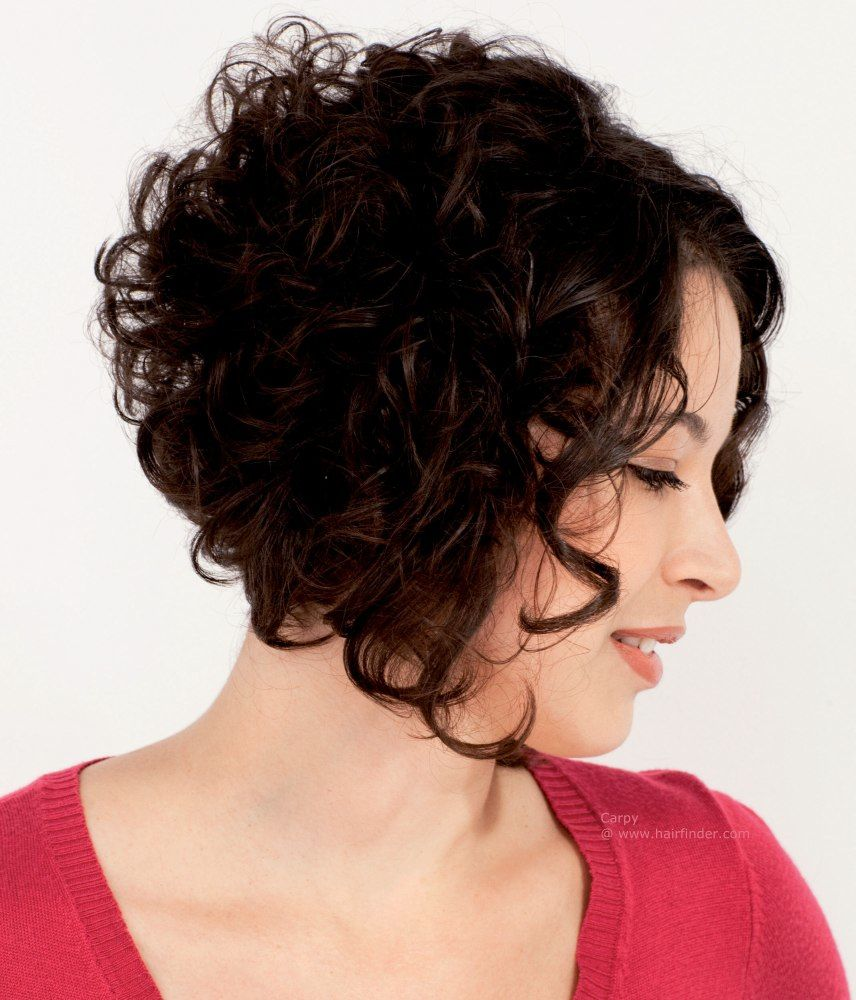 hairstyles, fullness for curly hair with an a line cut, stacked