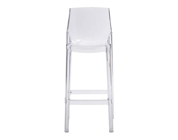 Zuo Mod Phantom Clear Bar Chairs   Set Of 2   DEQOR.com