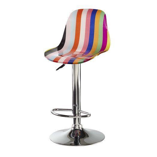 Am Studio Rainbow Adjustable Height Bar Stool Acrylic