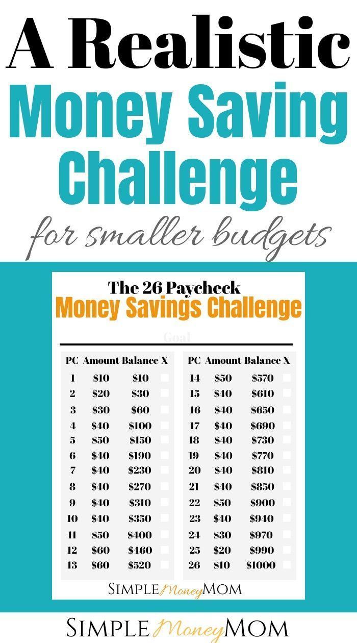 A Realistic Money Savings Challenge for Smaller Budgets | Simple Money Mom