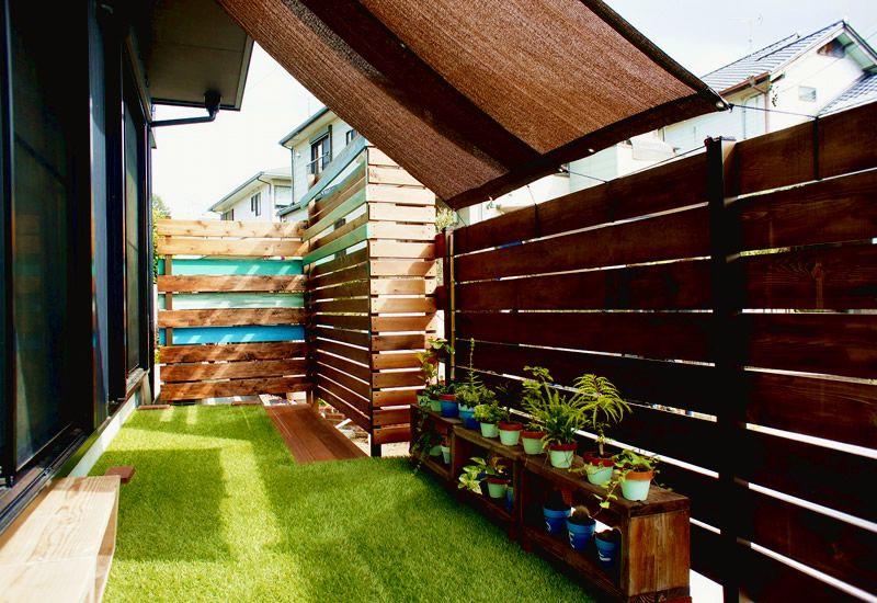 ウッドフェンスで造るガーデンリビング 大府市 I様邸 新築 庭