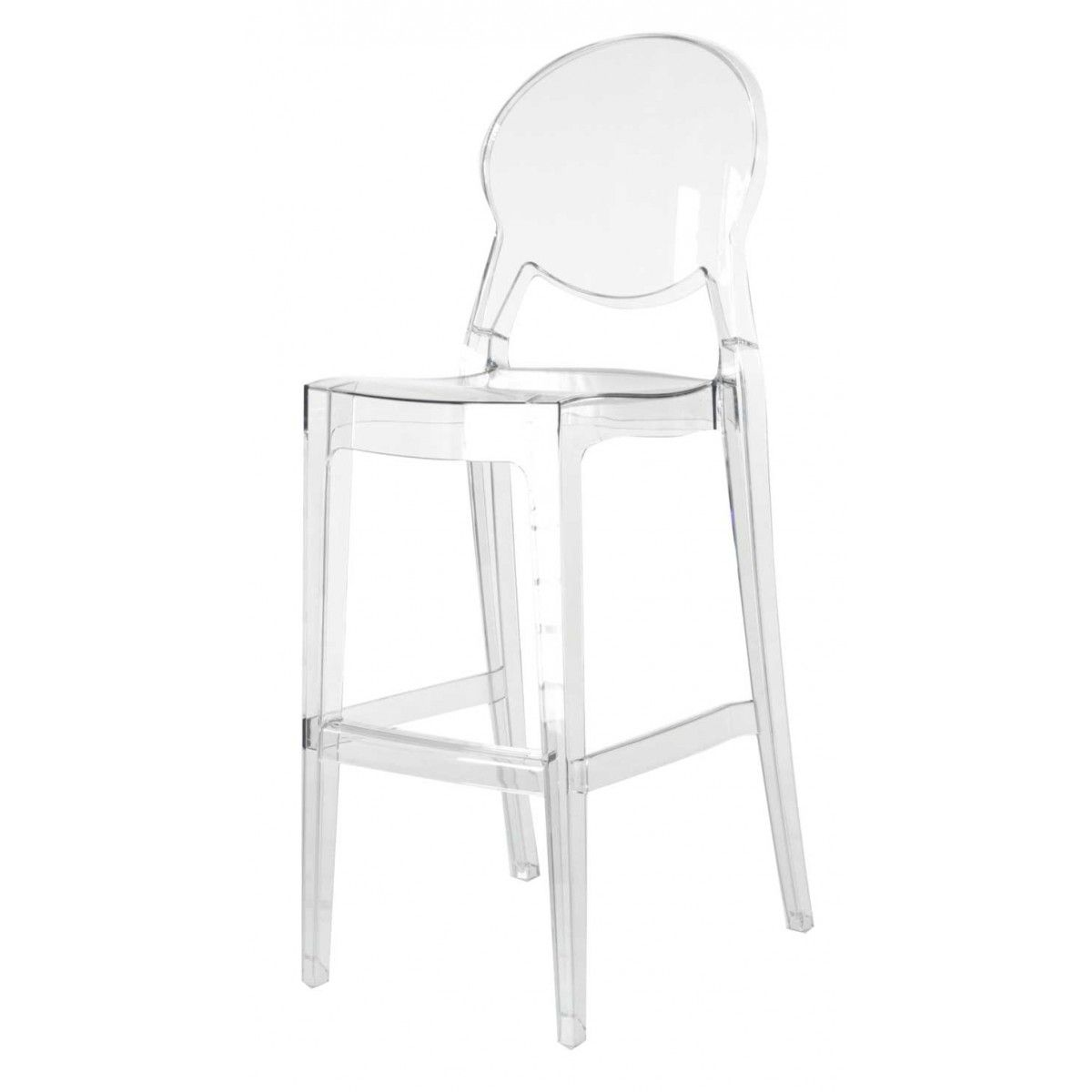 2 X Tabouret De Bar Transparent Polycarbonate Igloo Chaise De Bar Design Tabouret De Bar Chaise Bar