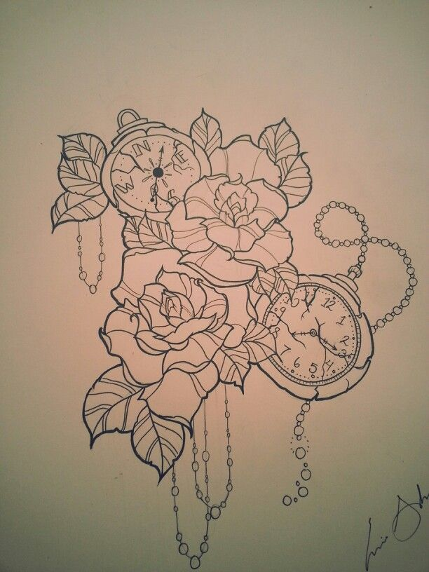 Compass Tattoo Drawing Tattoos Piercings Tattoo Drawings