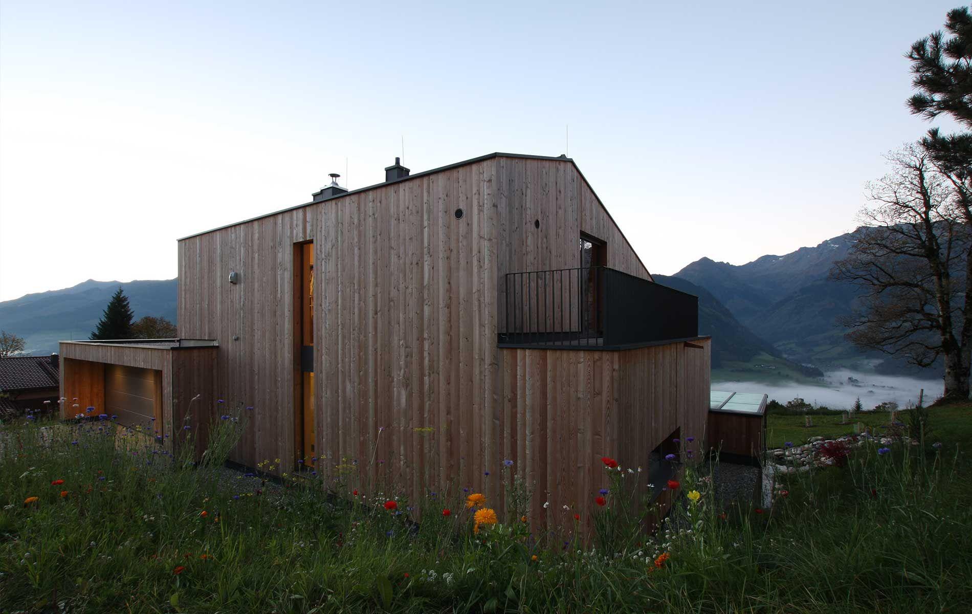 Einfamilienhaus holzhaus modern was wir bauen for Wochenendhaus modern bauen