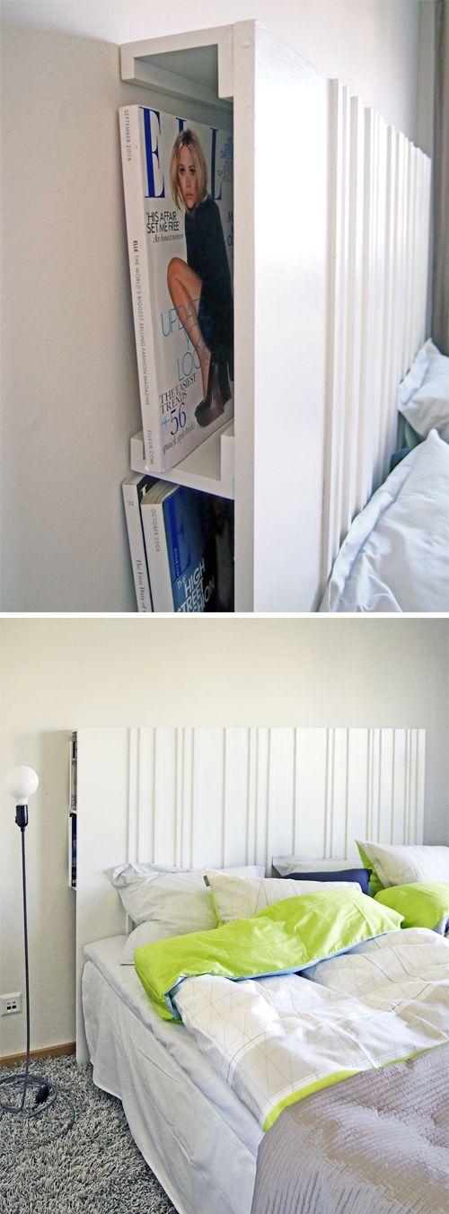 DIY T u00eate de lit multifonction DIY Pinterest Sovrum, Inredning och Sänggavel