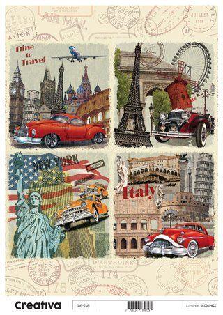 Laminas para decoupage Creativa vintage 116-218  30 x 21 cm