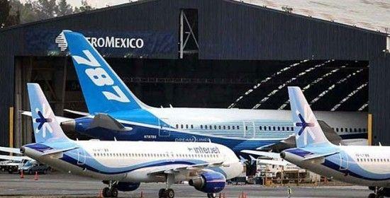 Despega del aeropuerto de México primer vuelo del Boing 787 Dreamliner de Aeromexico