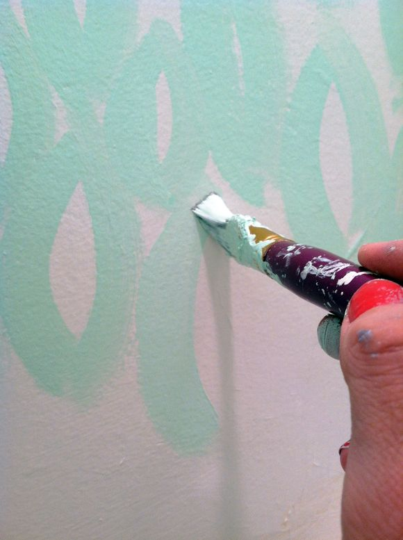 Diy Abstract Painted Walls Little Green Notebook Wall Pattern