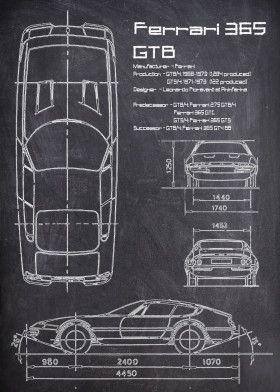 Ferrari 365 GTB CHALK   Displate thumbnail