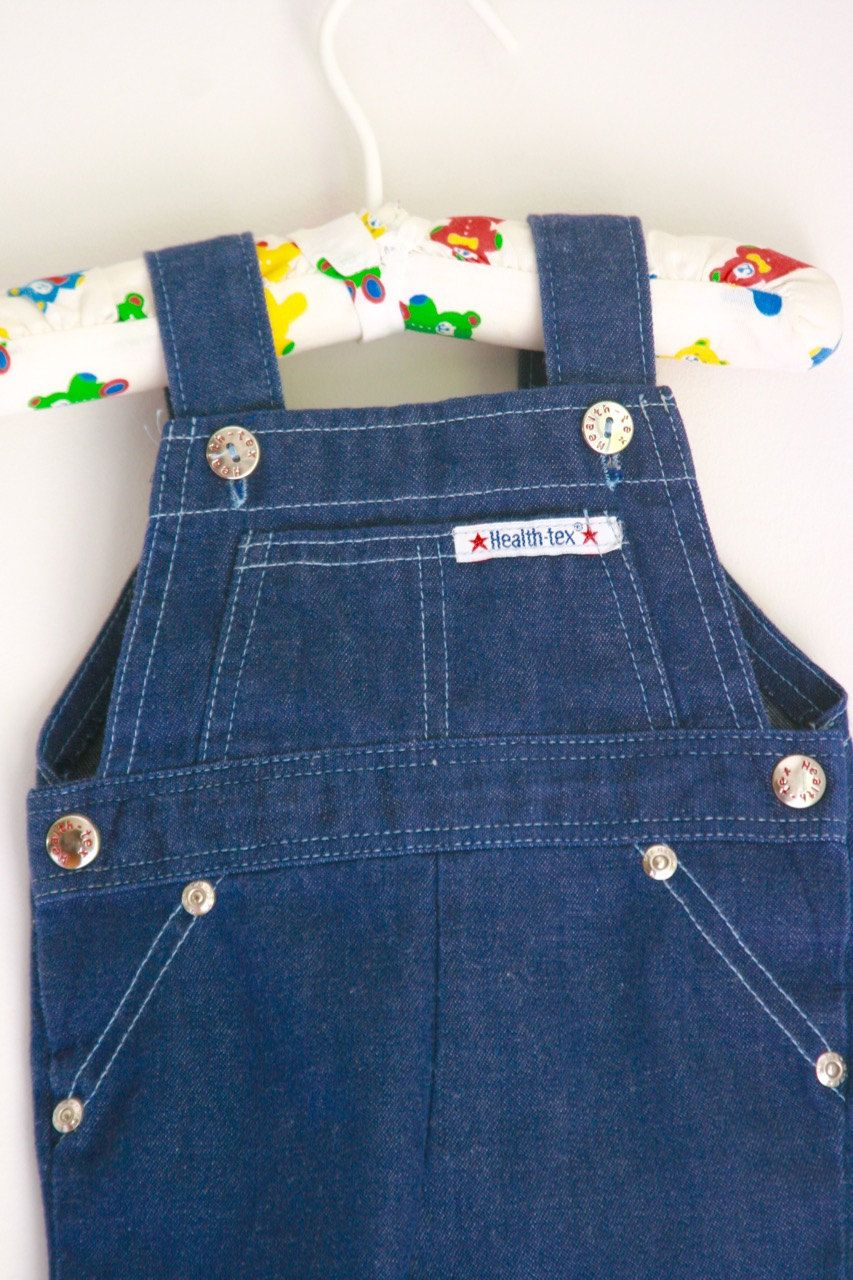 9100d4da993 Vintage Healthtex infant shortalls denim romper 3 to 6 months baby boy baby  girl by fuzzymama on Etsy