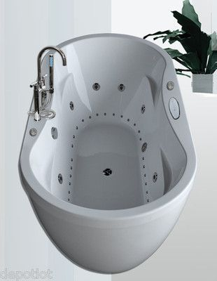 Beau 36x71 Dual Whirlpool / Air System Bathtub ~ 8 Water Jets / 26 Air Jet Bath  Tub