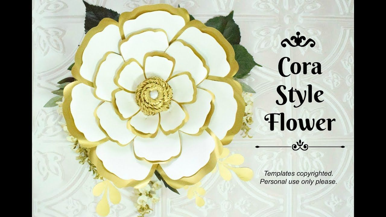 Easy Giant Paper Flower Tutorial Cora Style Part 1 Youtube