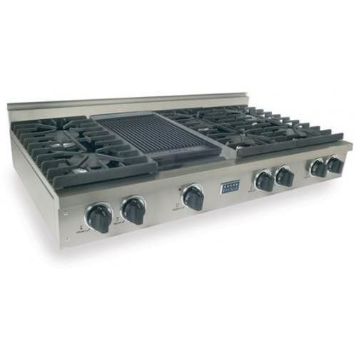 Fivestar Cooktops  Burner Natural Gas 6 Burner Cooktop With Griddle Stainless Steel Available At Shopperschoice Com This