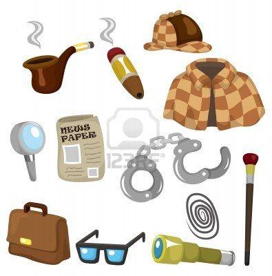 Conjunto De Iconos De Equipo De Detectives De Dibujos Animados Detective Conjunto De Iconos Fiesta De Detective