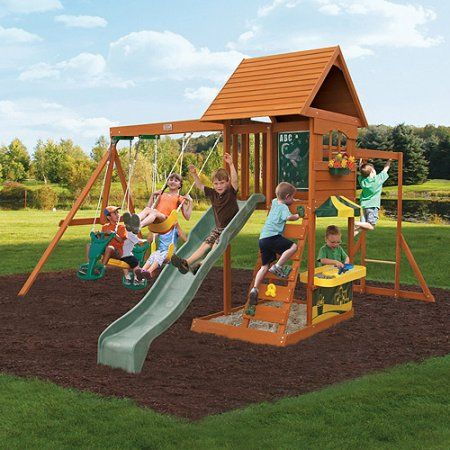 Toys Wooden Swing Set Wooden Playground Big Backyard