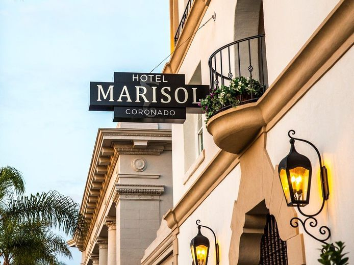 Hotel Marisol exterior sign True Photography