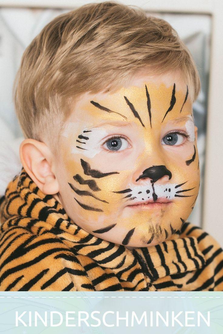 Tiere schminken - Kinderschminken Tiger