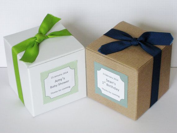 20 Custom Favor Box Cupcake Box No Inserts For Bridal Shower