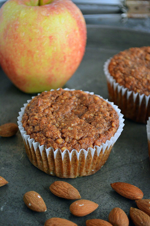 Rezept für Low Carb Apfel Zimt Muffins, glutenfrei und Paleo