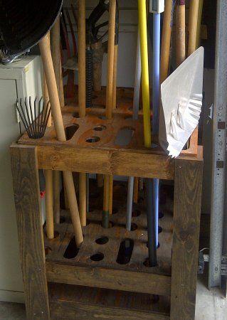 Plans For A Garden Tool Rack Homekeeping Organization