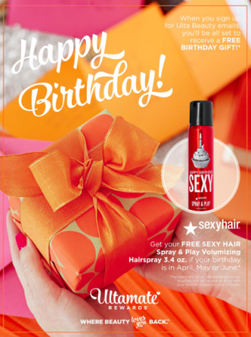 Ulta 2016 Birthday Gifts They Change Each Quarter Benefit Rollerlash Sexy BigSexy Play And Spray Free HappyBirthday
