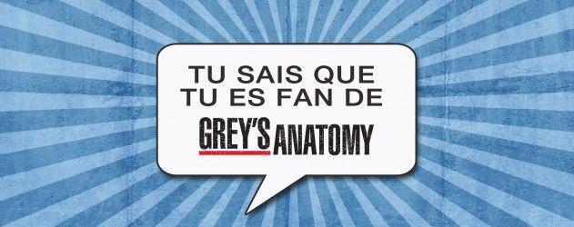 Vous avez voté : La prochaine édition de Tu sais que tu es fan de sera sur #GreysAnatomy. Envoyez-nous vos symptômes!