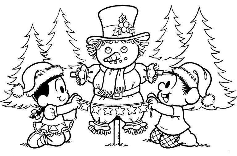 10 Desenhos De Natal Para Colorir E Imprimir So Escola Monica