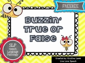 Buzzin' True or False {FREEBIE} -This FREEBIE challenges 1st, 2nd, 3rd or 4th grade students to decide whether they think statements are true or false. {first, second, third, fourth grader, free, freebie}