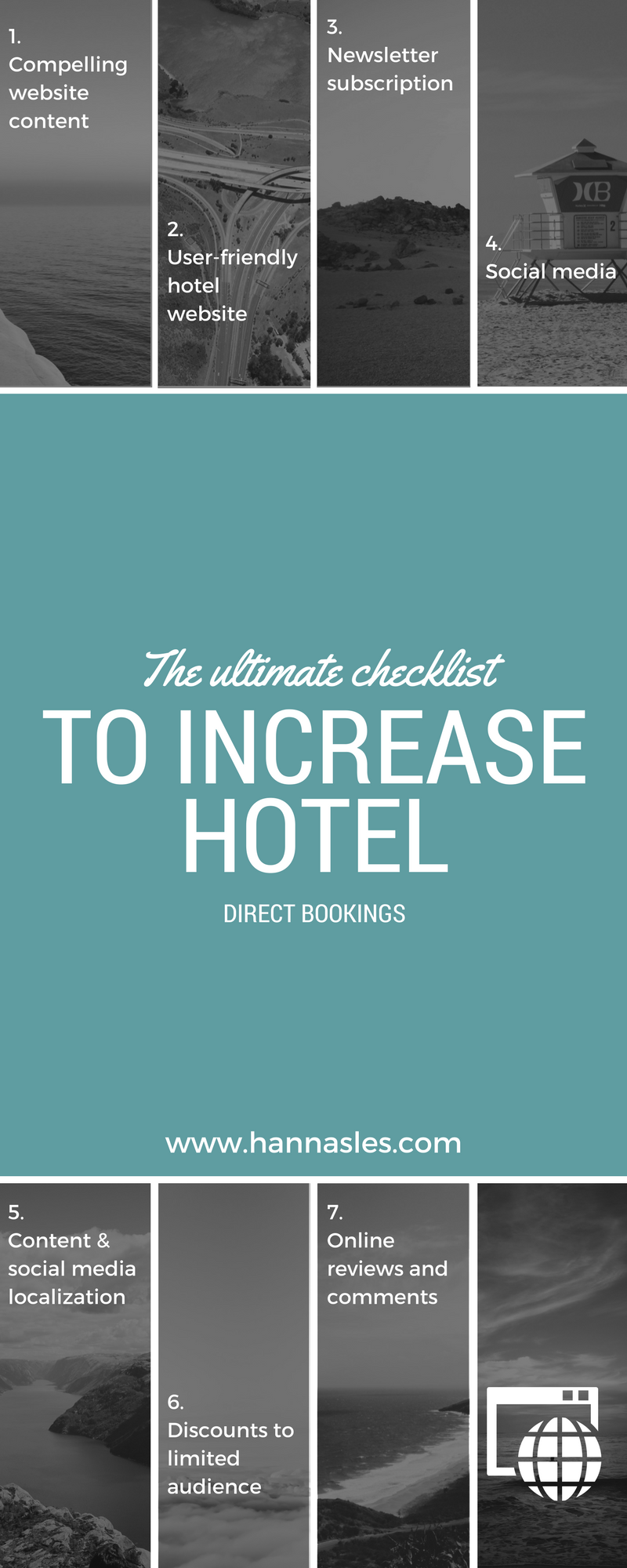 The final goal for most hotels is to encourage visitors to