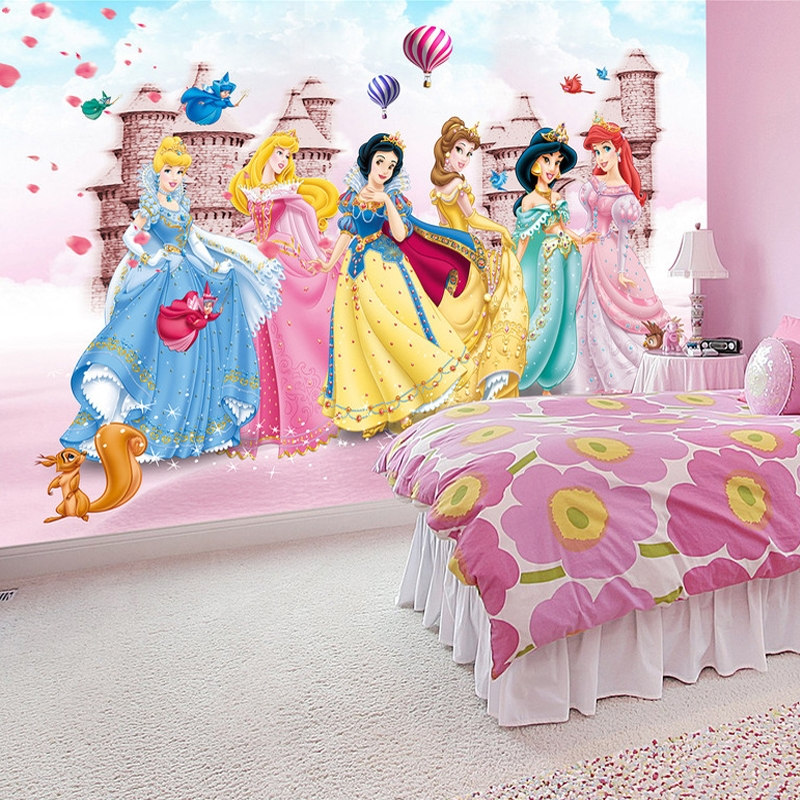 9.83$  Watch now - http://alisg6.shopchina.info/go.php?t=32724889807 - Custom Photo Wallpaper 3D Non-woven Kids Room Princess Castle Bedroom Background Decoration Baby Room Wall Mural Wallpaper 3D 9.83$ #magazineonlinebeautiful