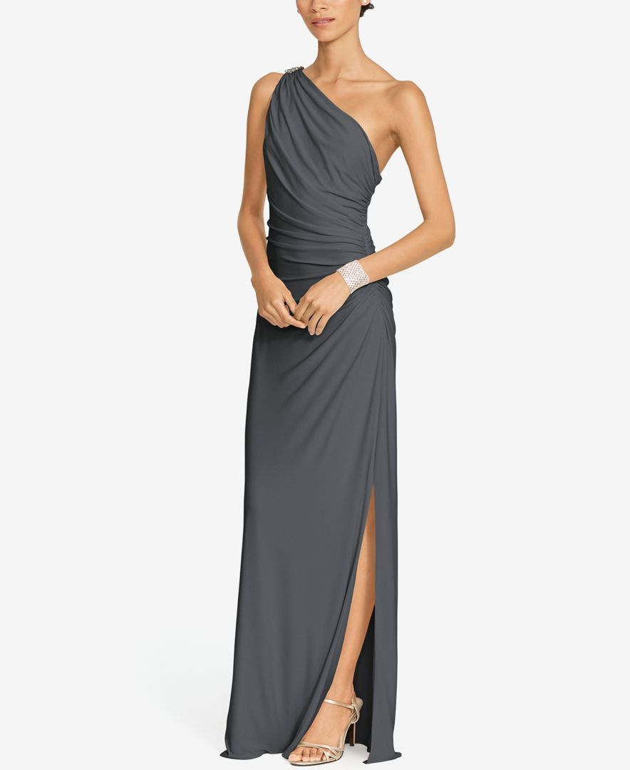 60a95ca6a0 Crafted from sleek matte jersey, this floor-length dress features a ...