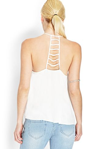 Crepe Woven Cutout Tank | FOREVER21 - 2000071224 $13.80