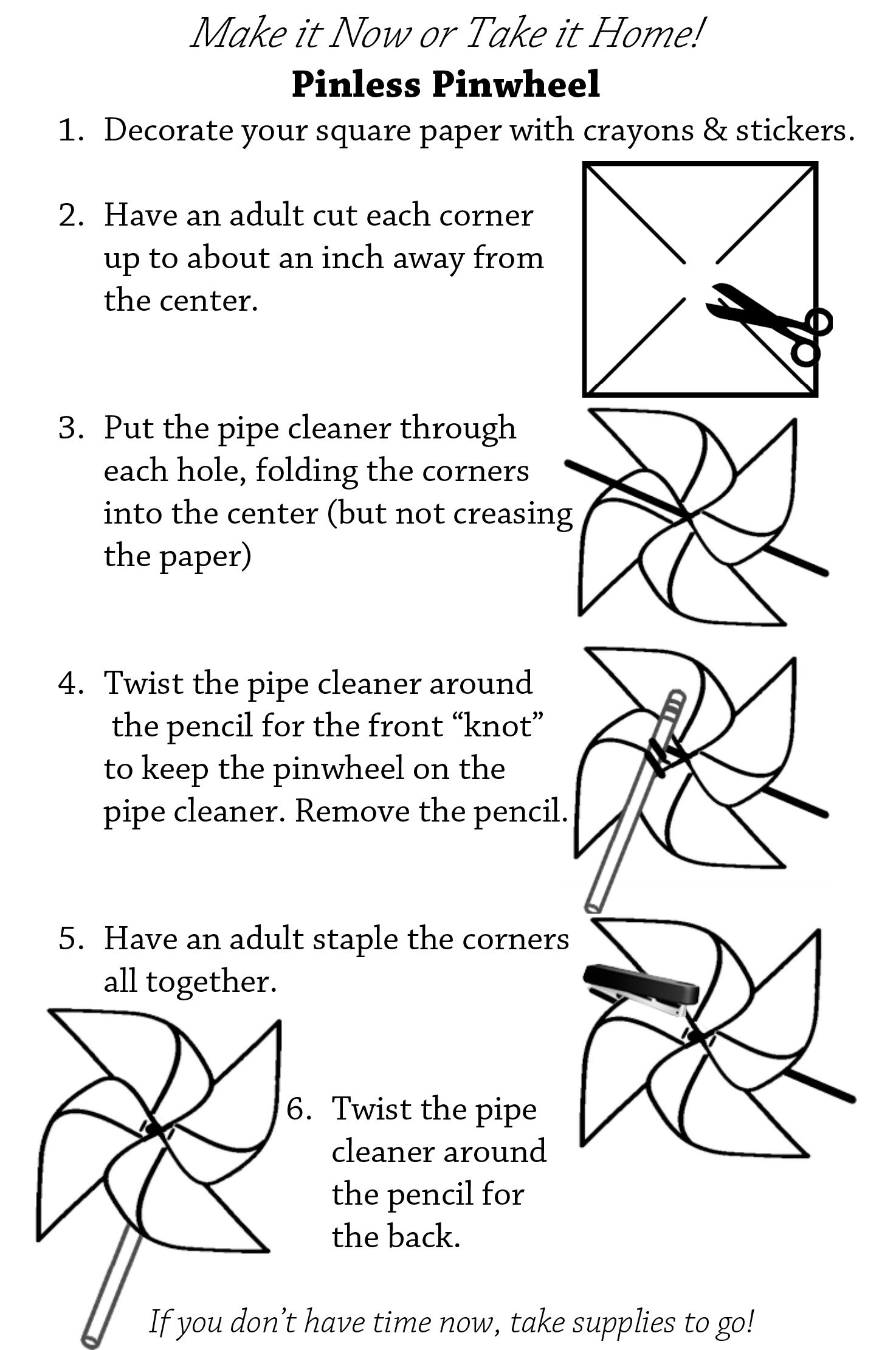 25 Modular Origami Pinwheel Printable Instructions