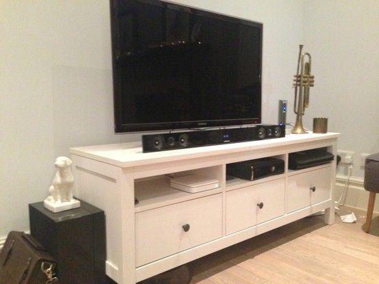 Ikea HEMNES TV stand white 3drawer Paid 190 asking 120