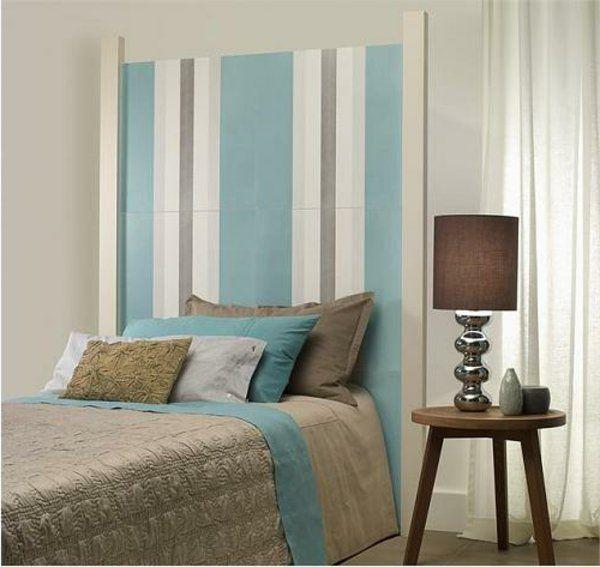 1001 coole ideen f r bettkopfteile betten pinterest ideen kopfteil blaue streifen und. Black Bedroom Furniture Sets. Home Design Ideas
