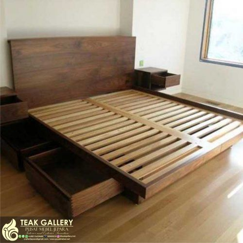 Desain Tempat Tidur Minimalis Jati Jepara Dipan Jati