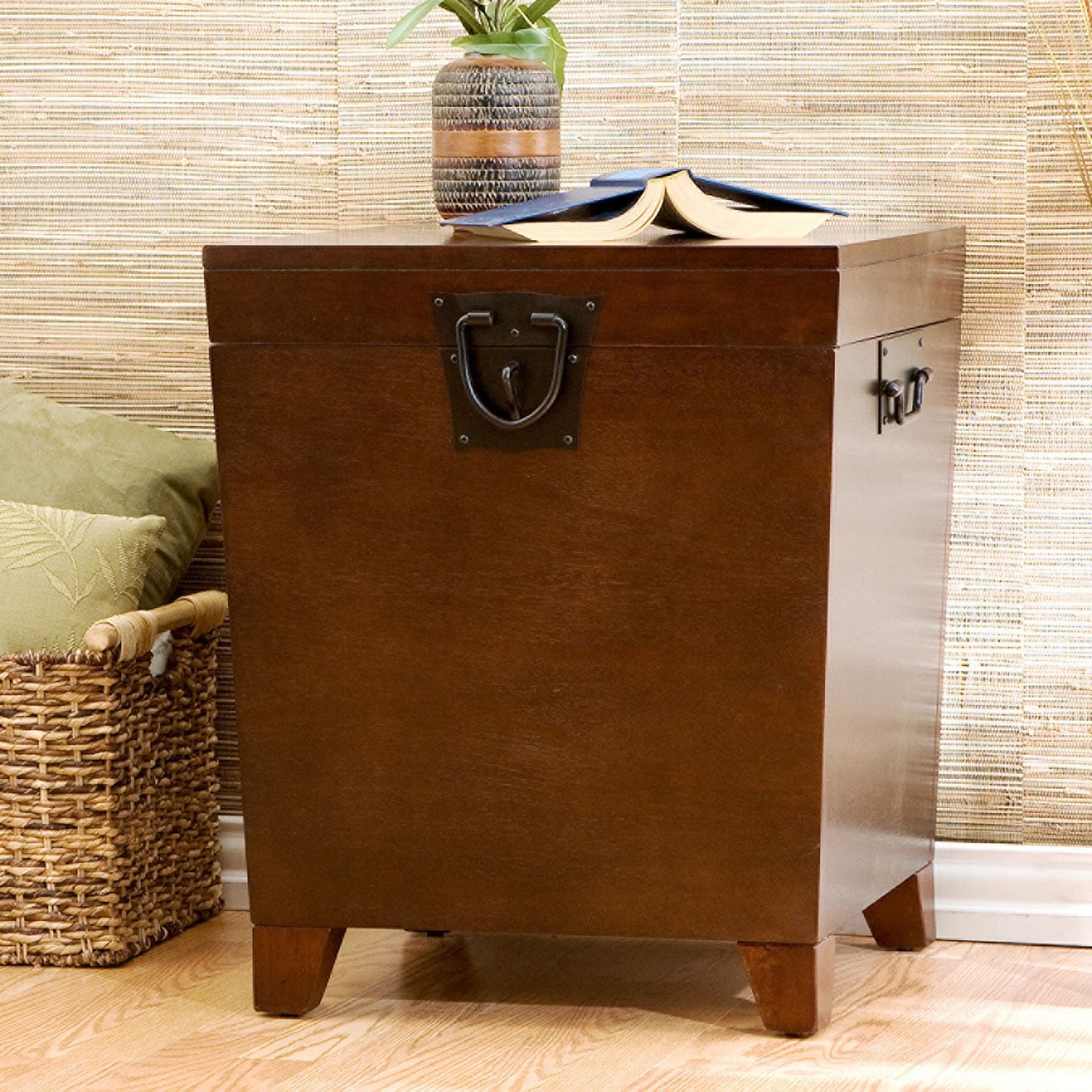Upton home pyramid espresso trunk end table overstock shopping upton home pyramid espresso trunk end table overstock shopping great deals on upton home geotapseo Image collections