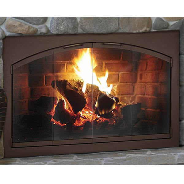 Rectangular Heritage Arched Fireplace Glass Door From The Thermo
