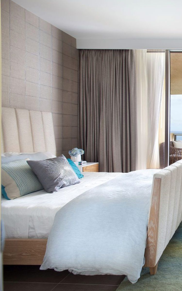 Moroccan mystique feature wall contemporary bedroom brisbane - All Modern Love The Recessed Curtains