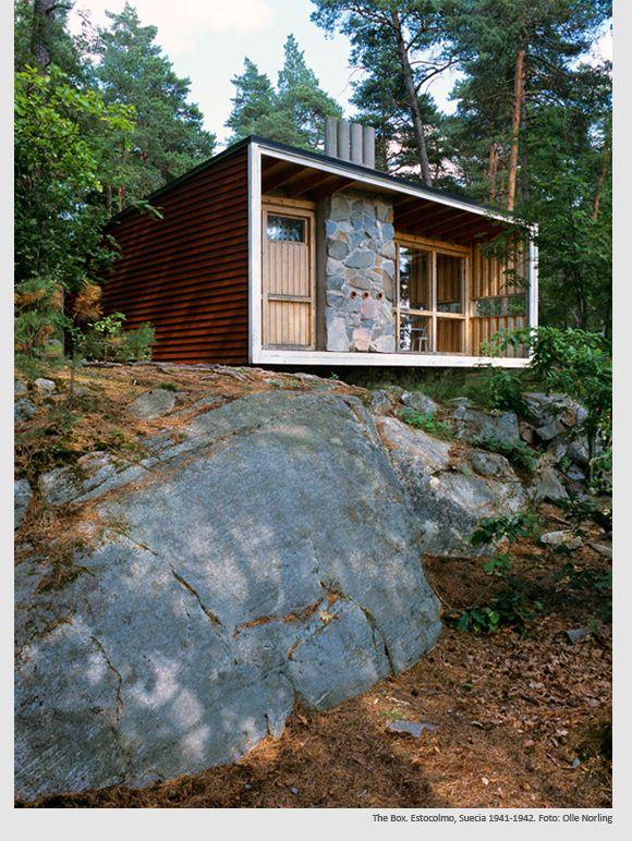 The Box. Ralph Erskine. | Casas cabañas, Casas modulares, Casas contenedores